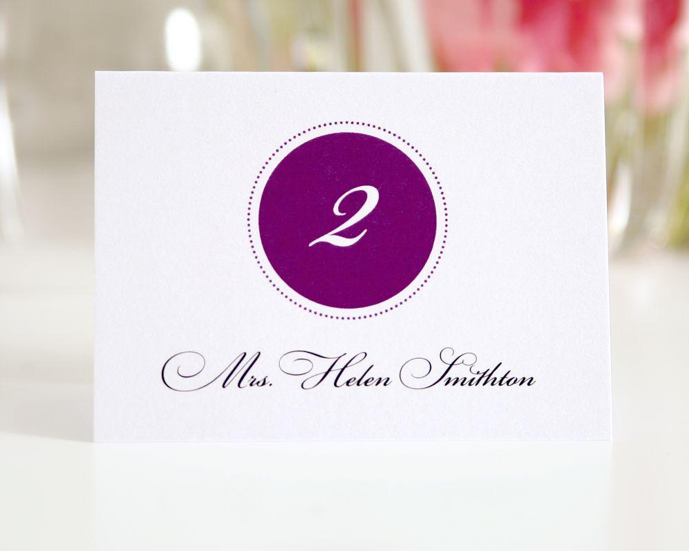 Purple Monogram Place Card Purple Lavender Party Pinterest