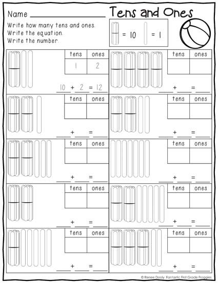 Printables Summer (June) Print and Do- No Prep Math and