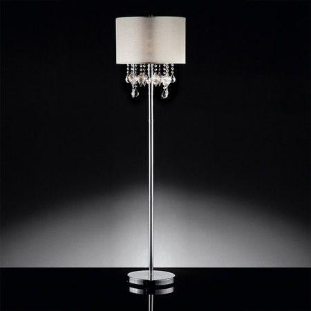 Carmine Crystal Floor Lamp Floor Lamp Contemporary