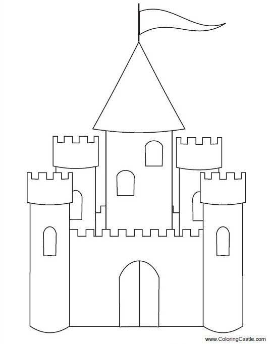 cardboard castle template - Google Search | Castles | Pinterest ...