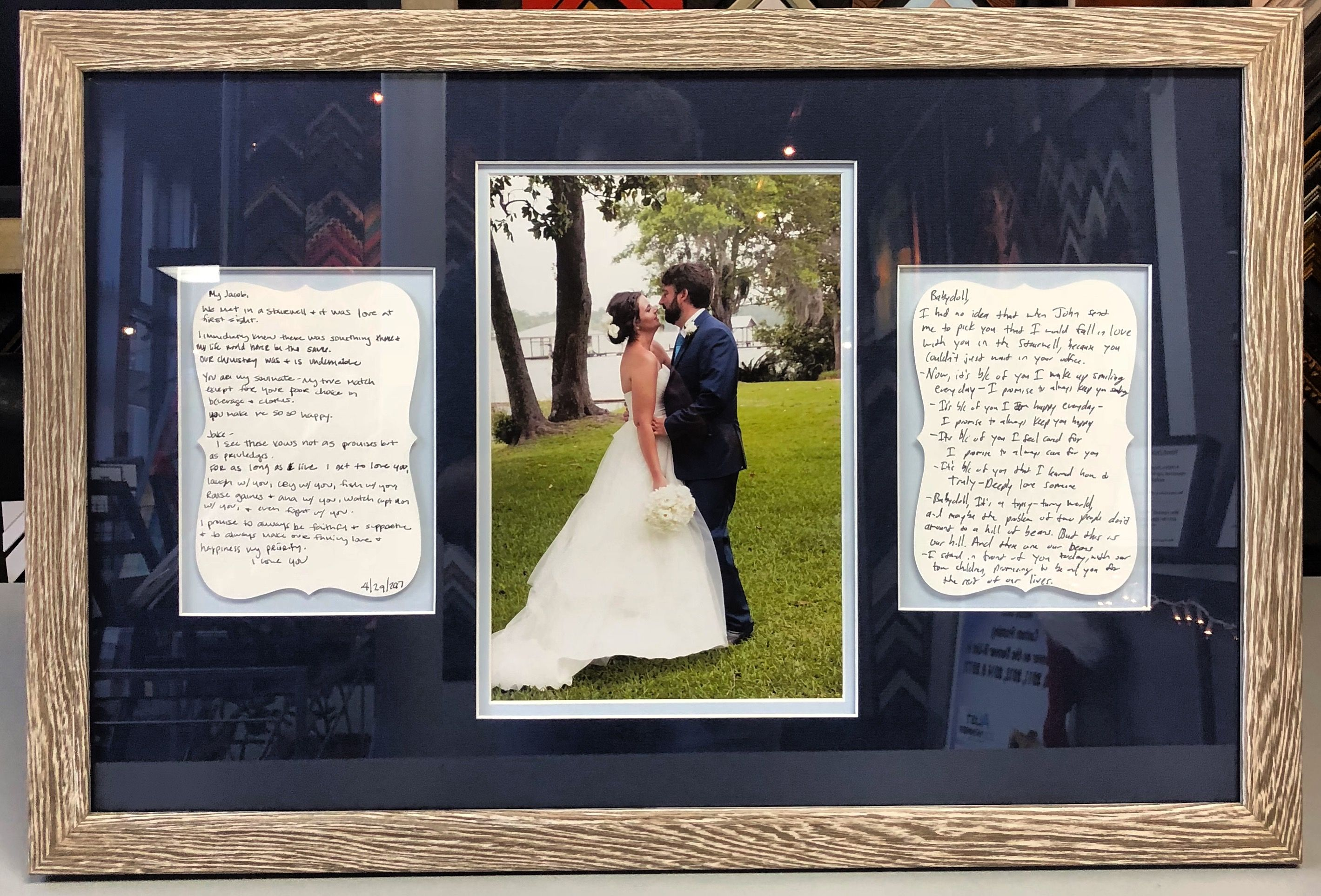 Custom Framed Wedding Vows And Photo Using Exclusively