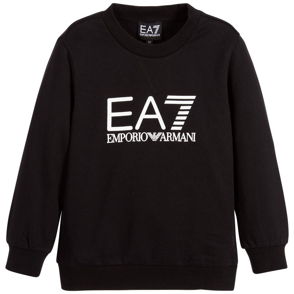 Armani Junior Ea7 Boys Black Jersey Sweatshirt Armani Kids Armani Junior Navy Blue Chiffon Dress