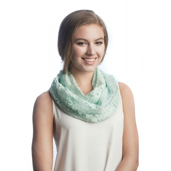 Cotton Lace Infinity Scarf- Deborah & Co