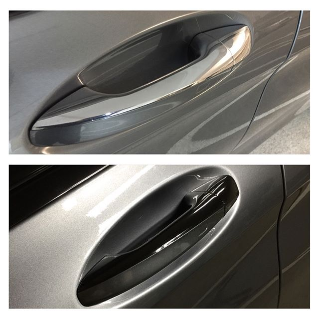 We used Avery Dennison gloss black to wrap the door handles and ...