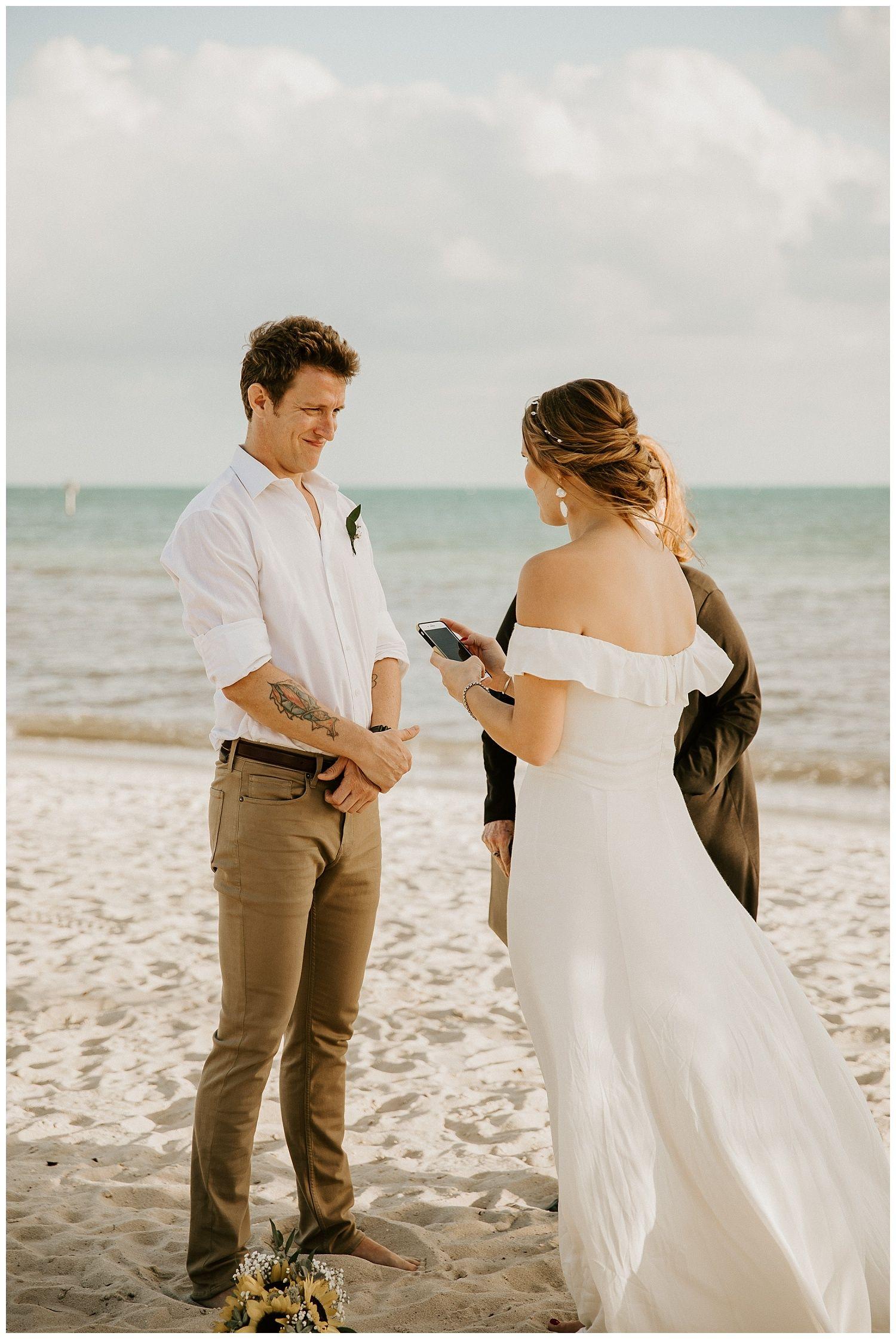 Smathers Beach Elopement Miami Wedding Photographer Beach Elopement Palm Beach Wedding