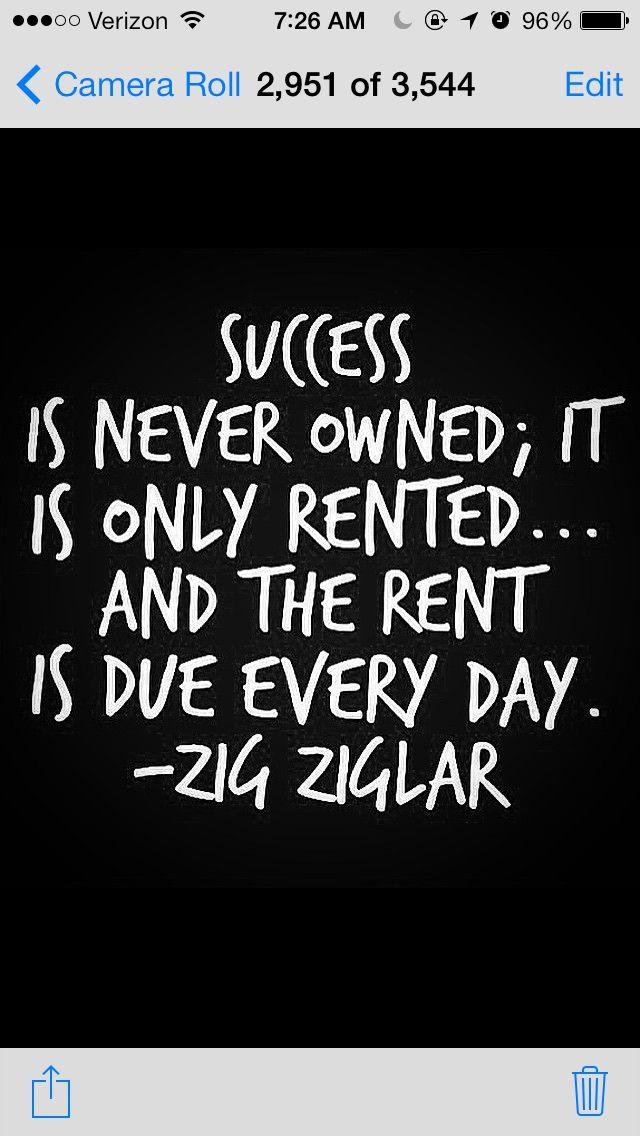 Success Is To Hard Work Determination