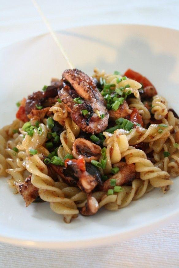 grilled octopus puttanesca