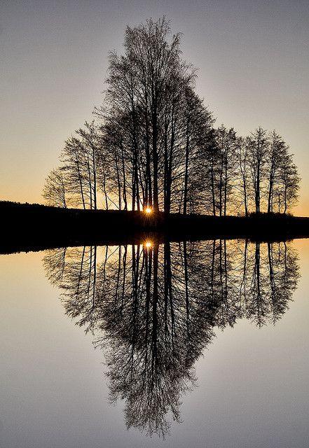 Perfect Reflection Med Bilder Vakker Natur Bakgrunner Bakgrunn