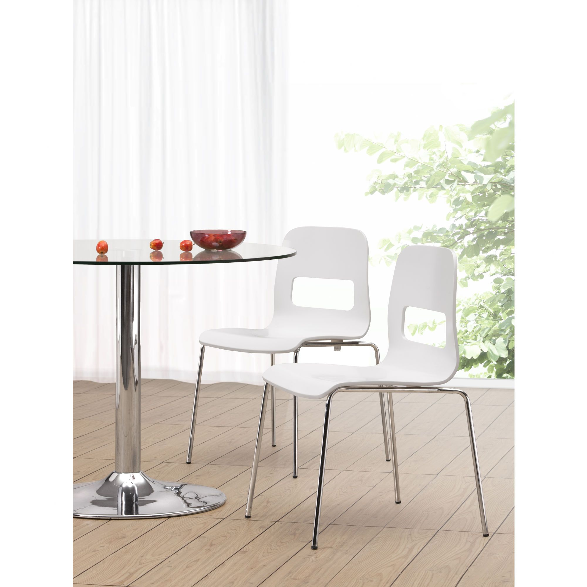 dcor design escape chair with a bent wood seat painted in a white mattegloss finish. dcor design escape chair with a bent wood seat painted in a white