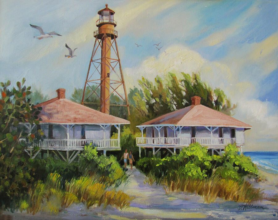 Sanibel Lighthouse  Painting by Dianna Willman