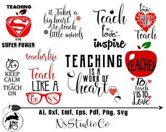 Download Teacher Svg Bundle, Teacher Quotes Svg, Teacher ...