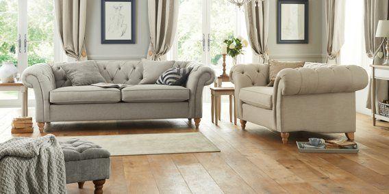Sofa, Gosford Light Grey Oak Effect Laminate Flooring