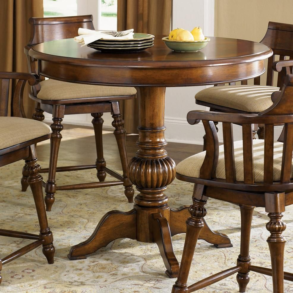 Crystal lakes round pub table by liberty furniture for the home