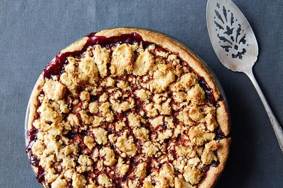 Heda's Mostly Blackberry Pie with Hazelnut Crumb Crust, a recipe on Food52