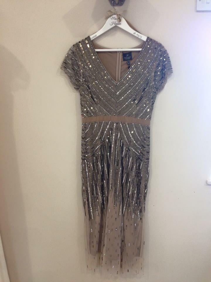 Flapper Inspried Knee Length Dress Gold