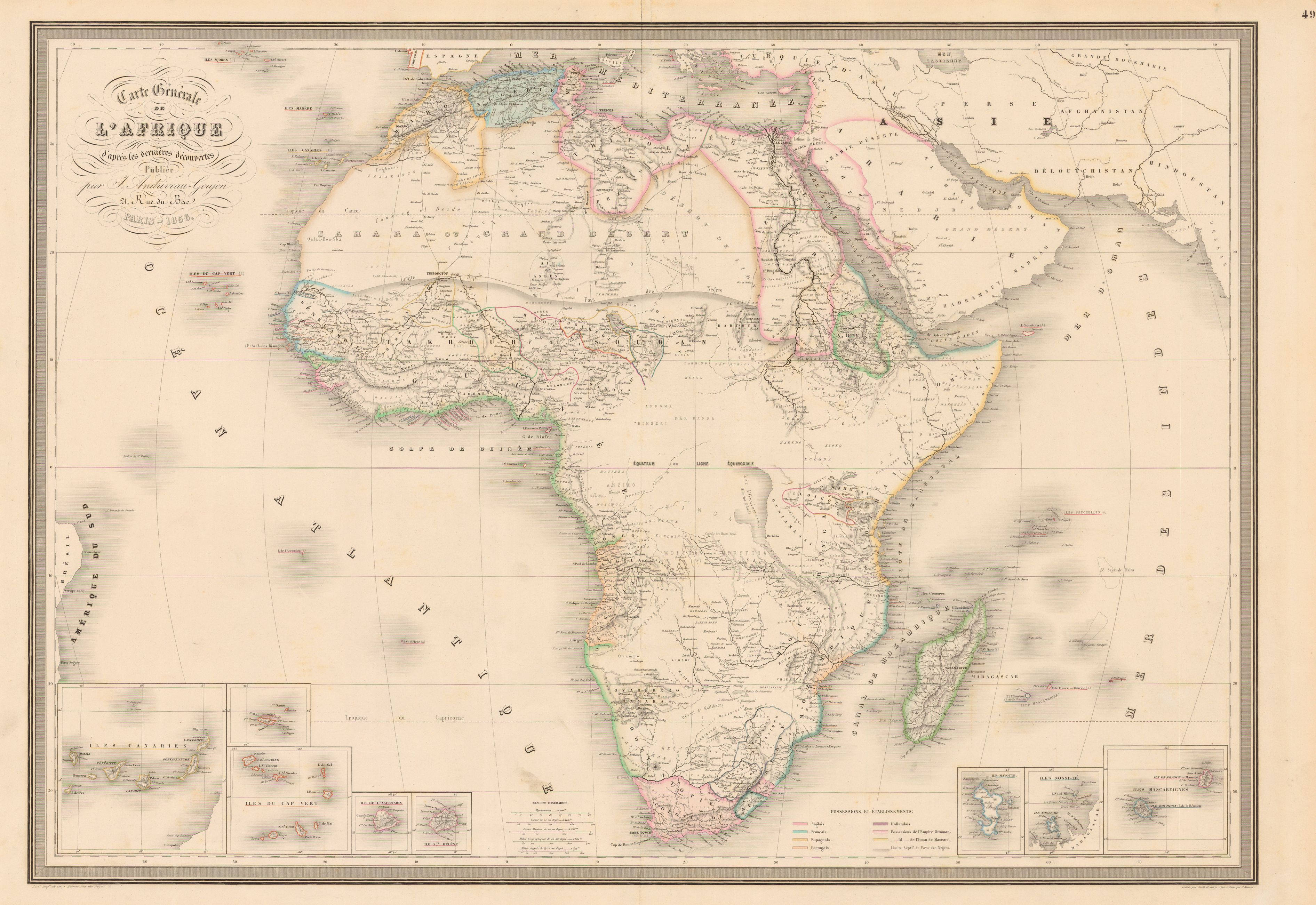 1856 andriveaug 37832602 parched pinterest geography this is interesting in contrast to the next map the quarter century gap covering a period of intense african exploration gumiabroncs Choice Image