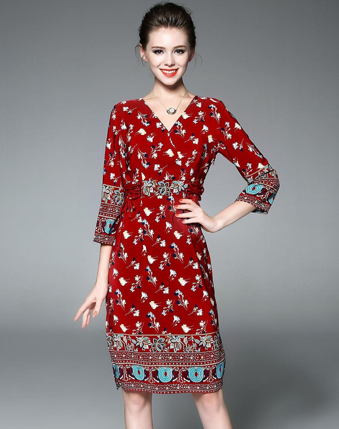 Adorewe vipme aline dresses designer biemei red v