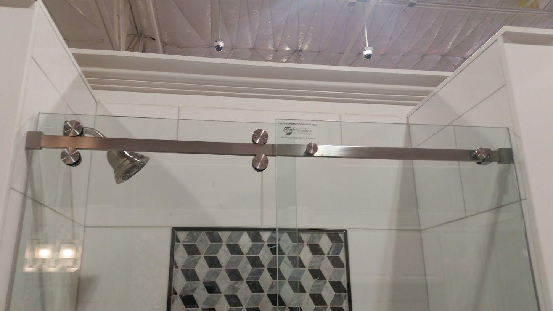 shower door top track
