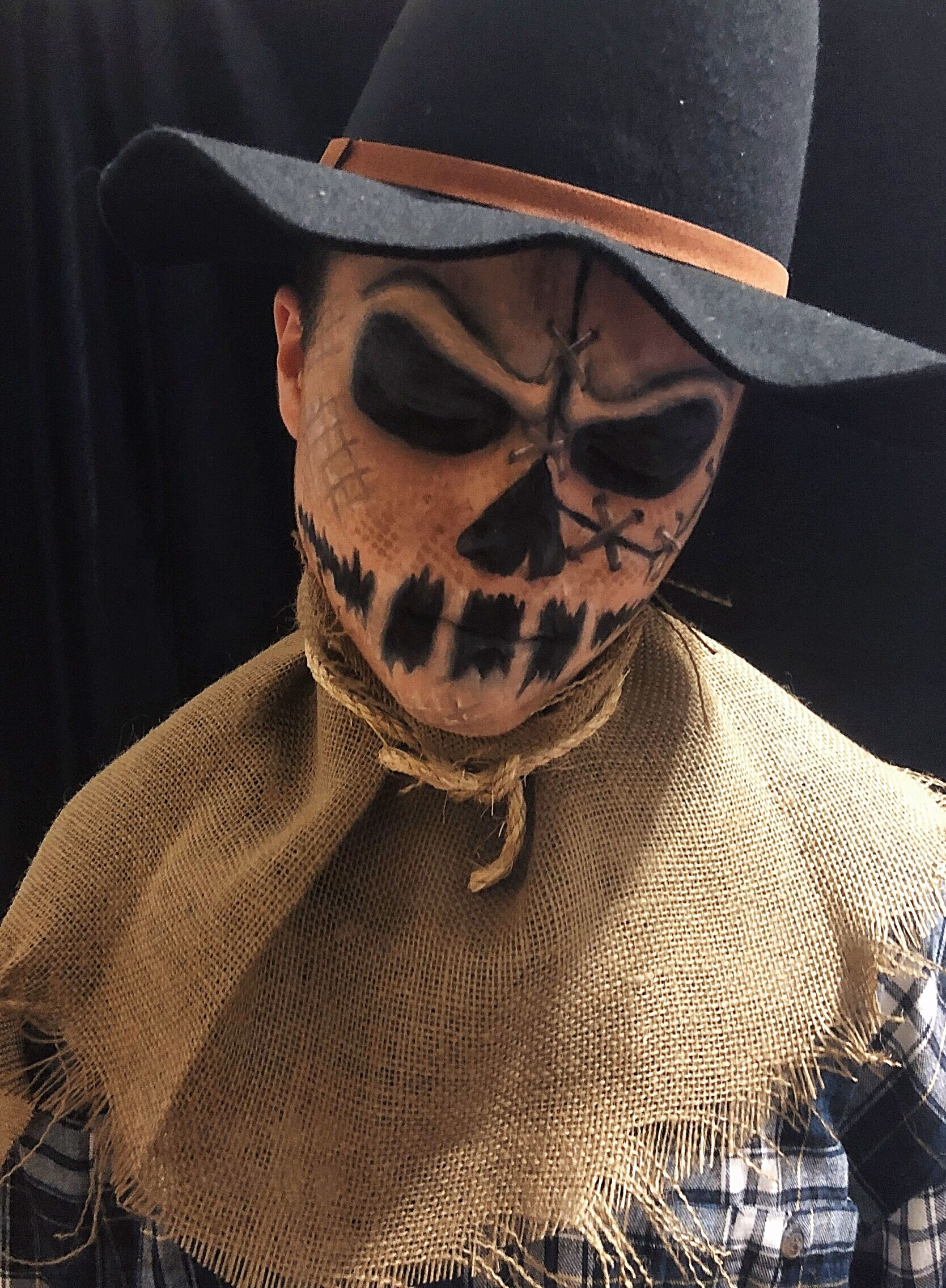 Freaky Friday Halloween Makeup Look. My son was my model