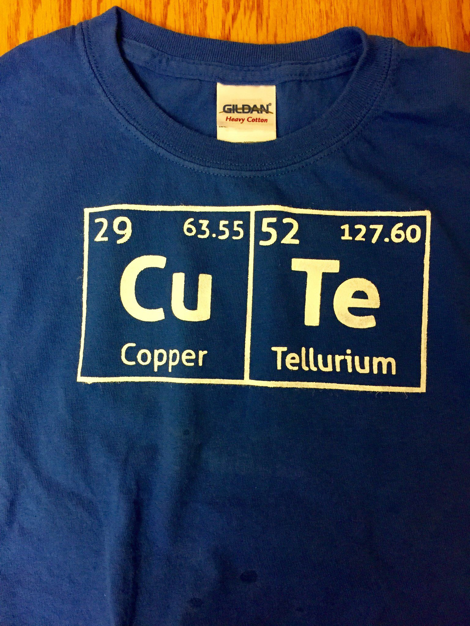 Periodic Table Cute T Shirt Cut Freezer Paper With Silhouette And