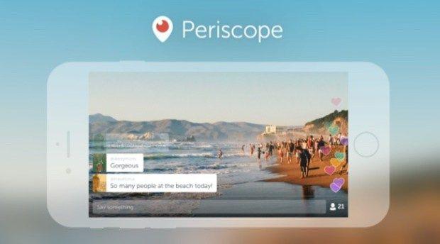 Periscope elimina la restricción y ya puedes transmitir grabando en horizontal