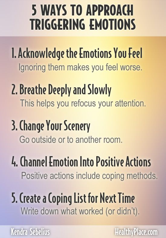 Five Ways to Approach Triggering Emotions