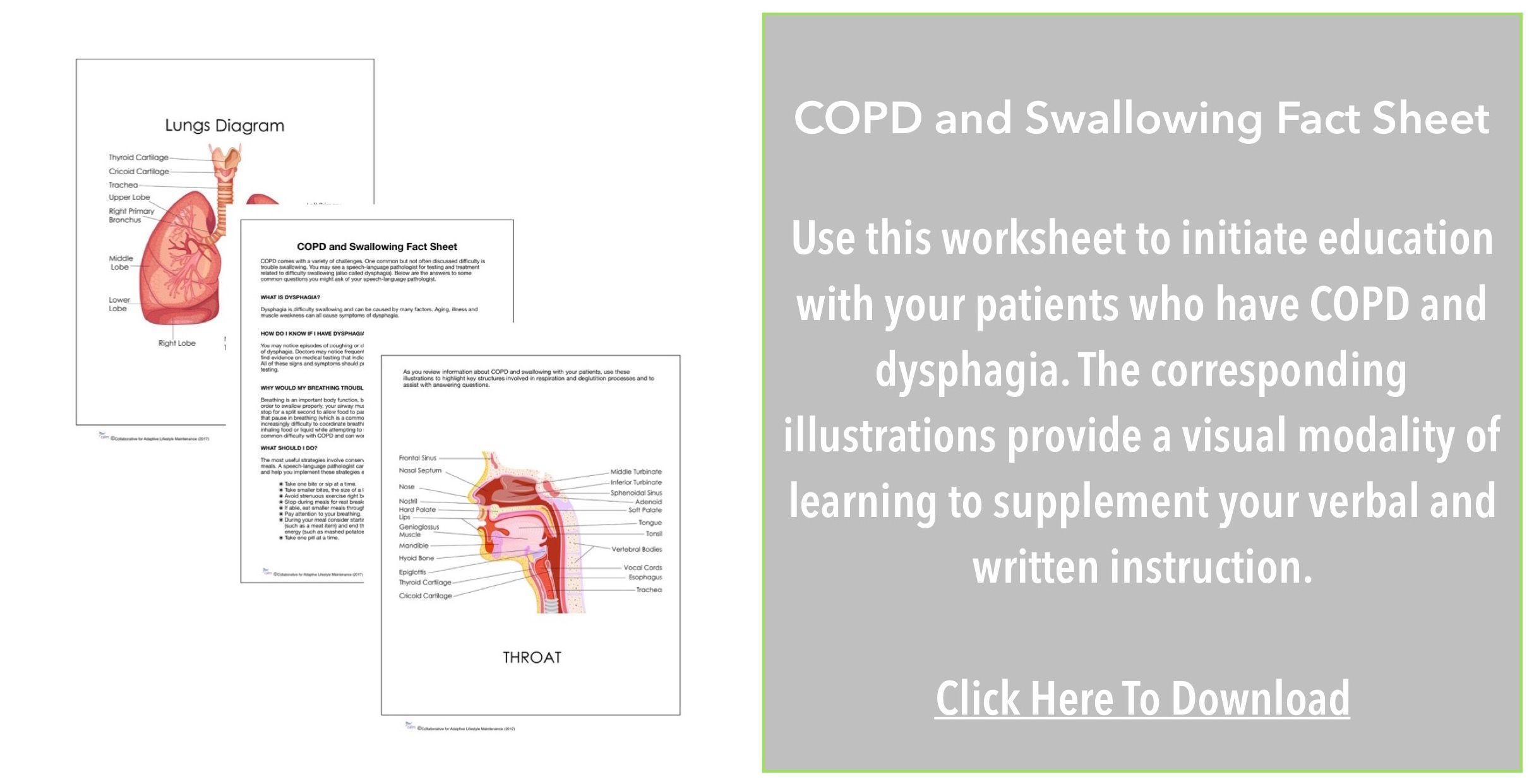 Copd And Dysphagia Patient Handout