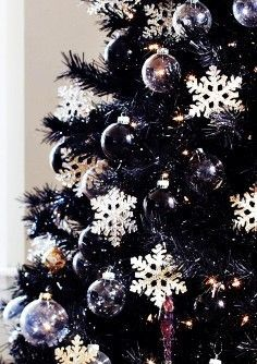 Liked On Pinterest Black Christmas Tree Ideas Black Christmas Decorations Black Christmas Tree Decorations Purple Christmas