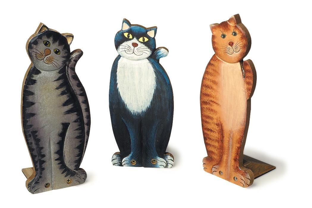 Details zu Türstopper Katzen Katze Holz Figur Dekoration NEU ...