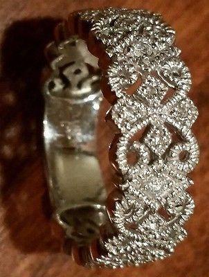Vintage, Antique, Diamond,White Gold 14K Ring Size 8.5 (1800's)