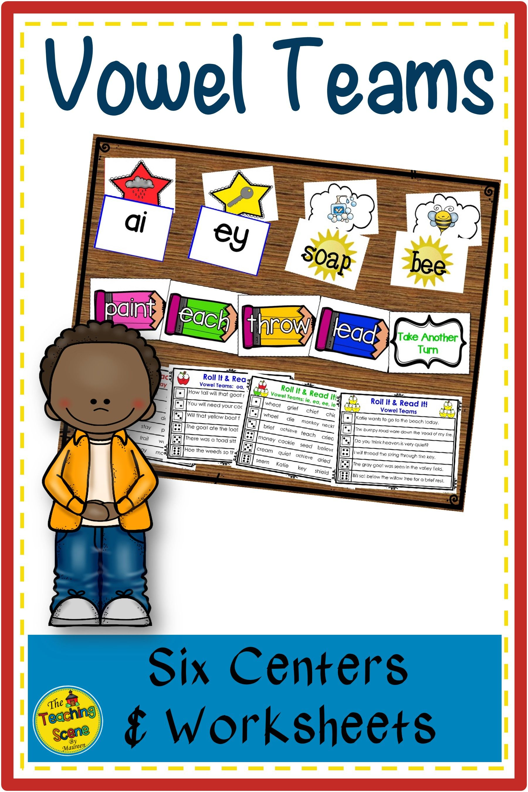 Vowel Team Centers Activities Amp Worksheets