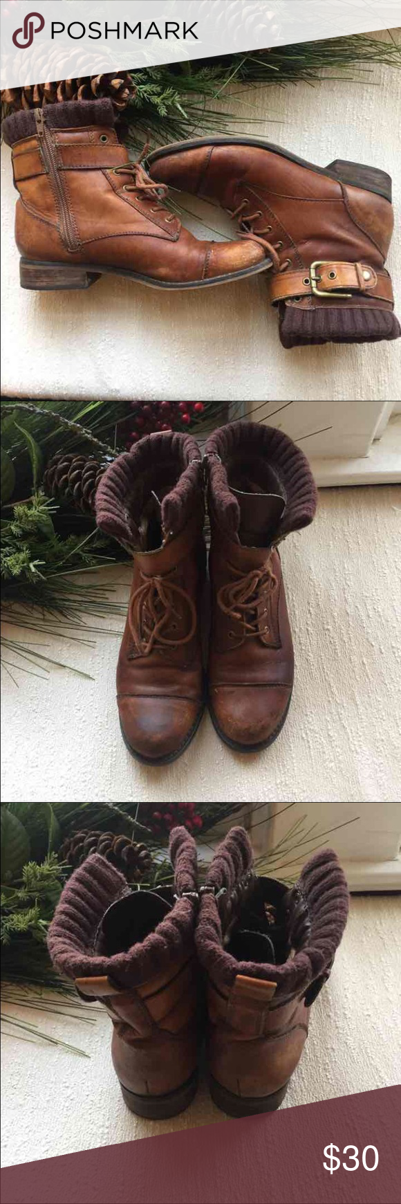 Arturo Chiang Boots Size 7 Arturo Chiang boots. These are made of leather and are in good used condition. Scuffs on the leather from use. Any distress adds to their vintage feel. Such a great look for Christmas. Arturo Chiang Shoes Lace Up Boots