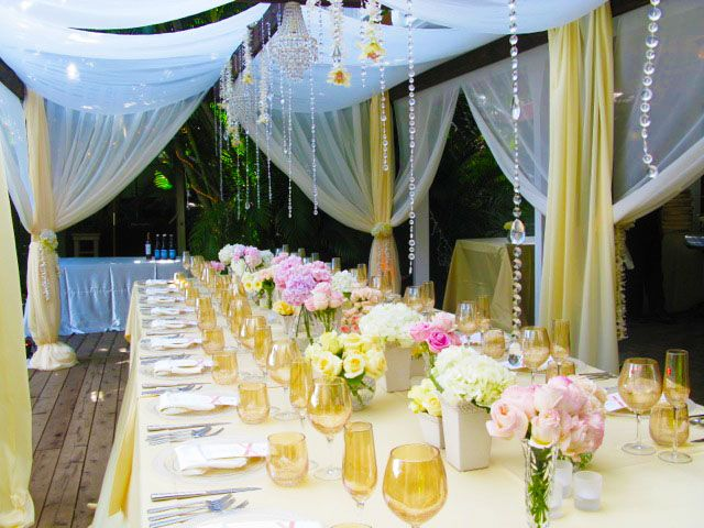 Mint Color Outdoor Ceremony Decorations: Lovely Outdoor Wedding Reception