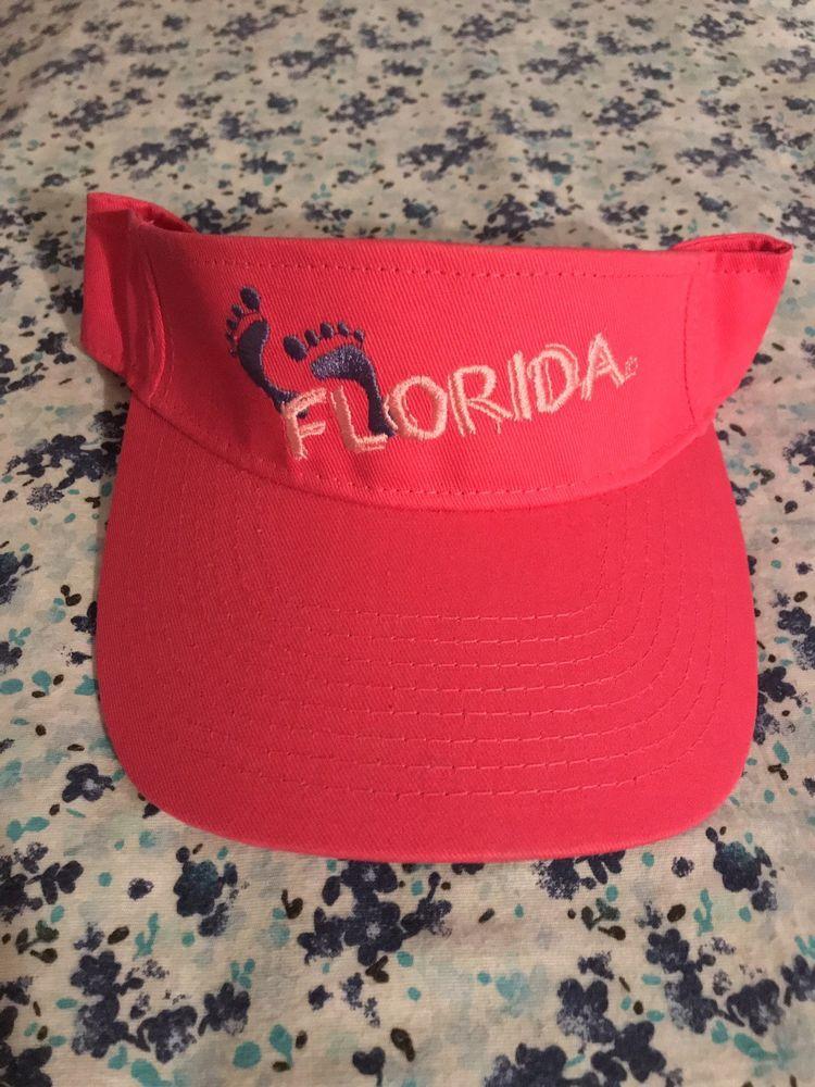 Hot Pink Florida Sun Visor Hat  baeb181d13e