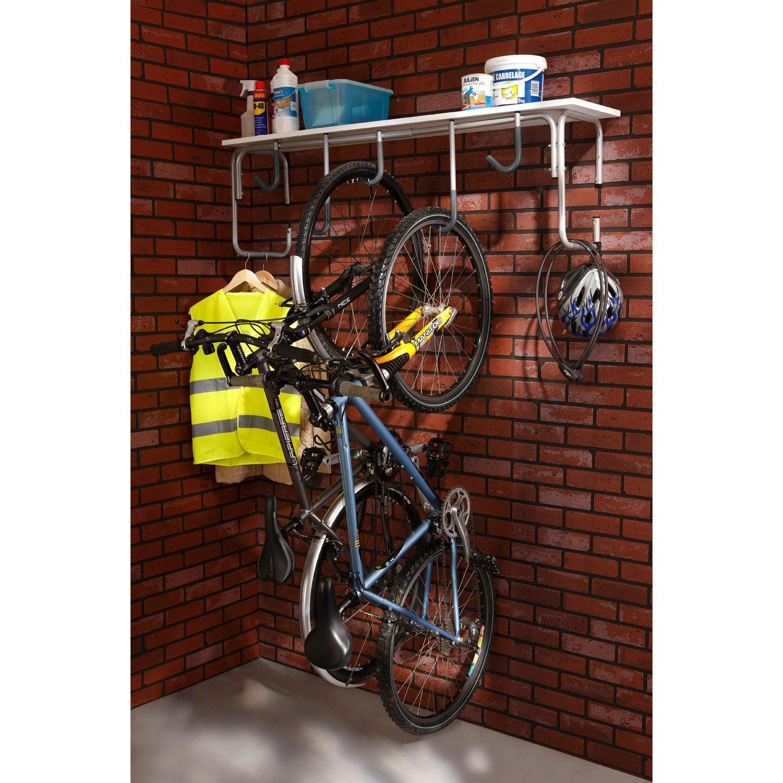 Fixation Pour Velo Garage support pour 5 vélos mottez, h.65 x l.130 x p.36 cm | range