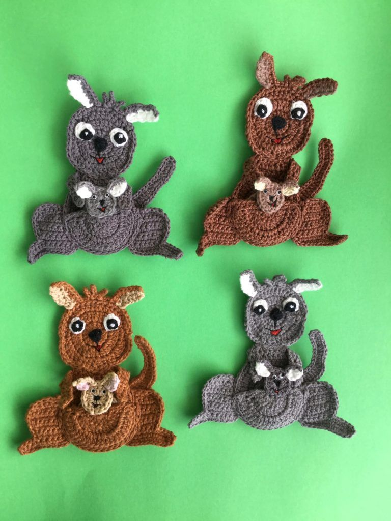 Crochet Kangaroo Pattern #crochetapplicates