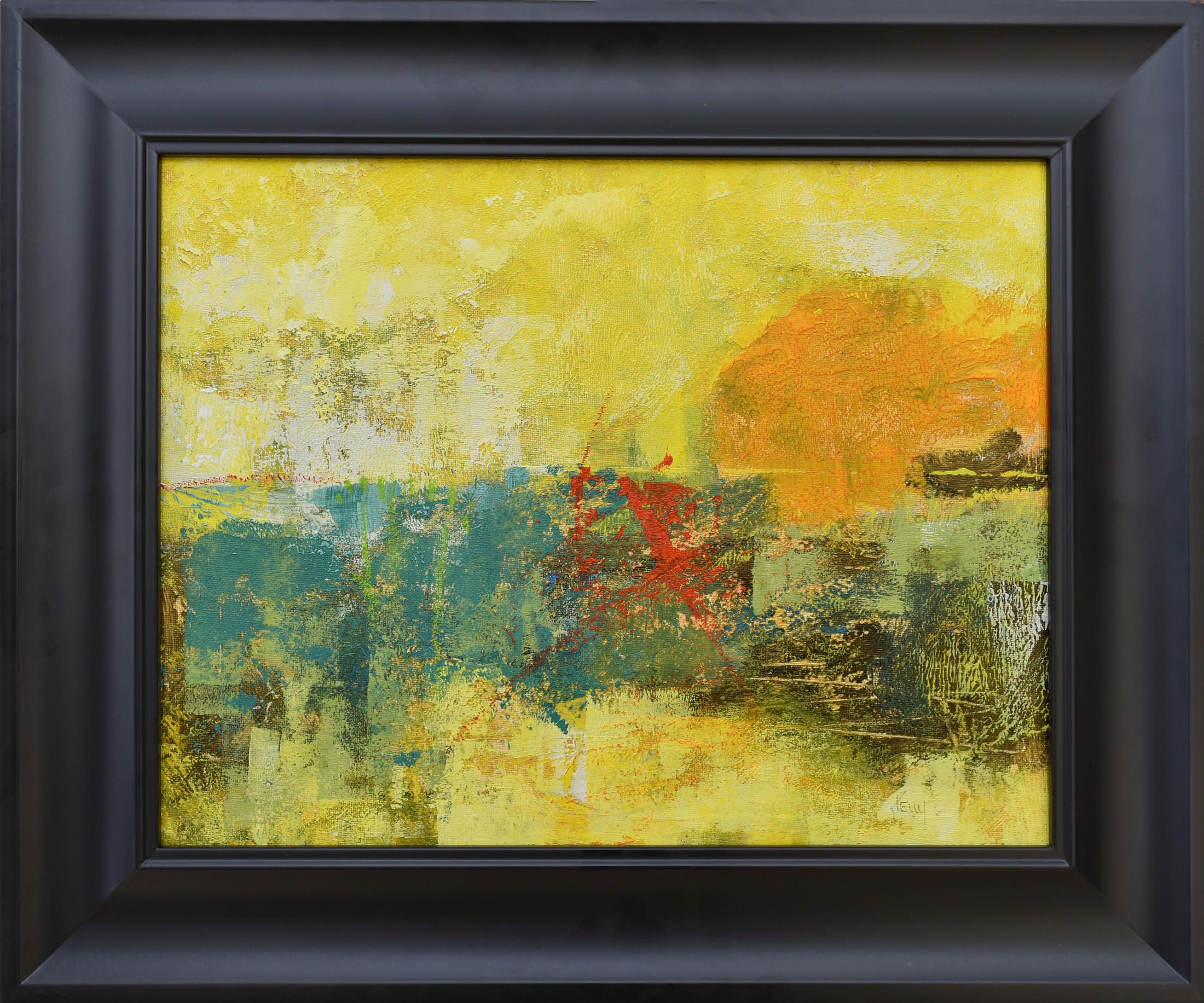 Abstract Sunset Painting ... Landscape Art ... Framed Art ...