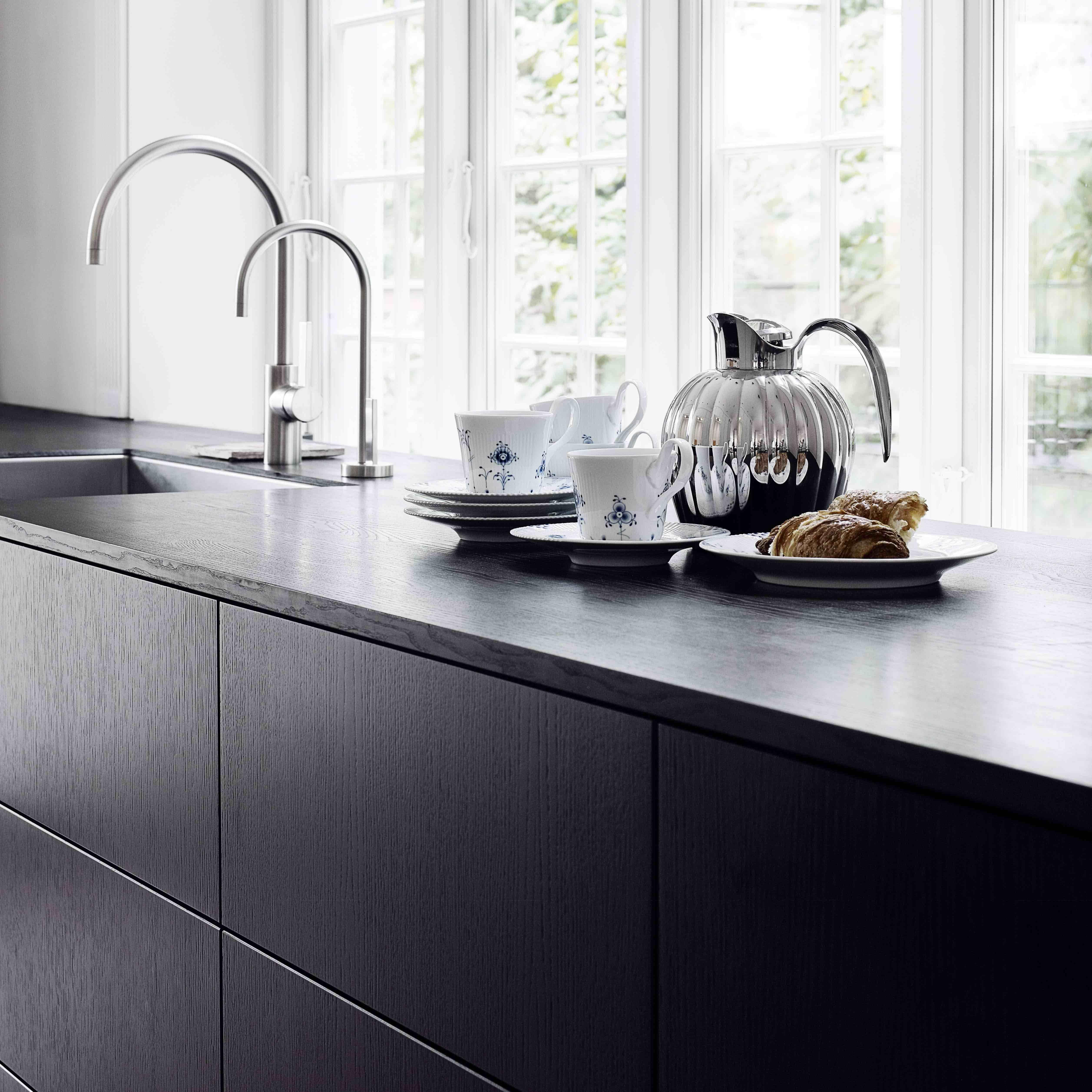 Form 2 Black Oak Kitchen By Multiform White Cream Grey  # Neat Muebles Merida