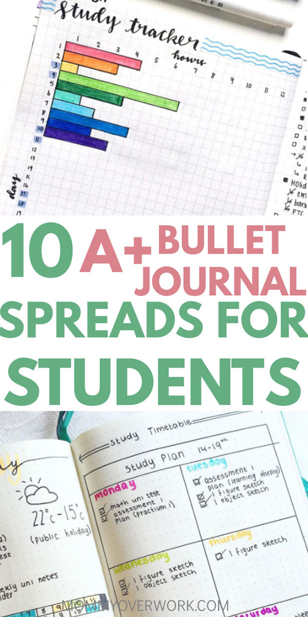 10 A+ Bullet Journal School Pages for Students to Try