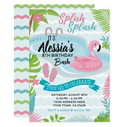 Pool birthday party invitation birthday gifts giftideas pool birthday party invitation birthday gifts giftideas present party stopboris Gallery