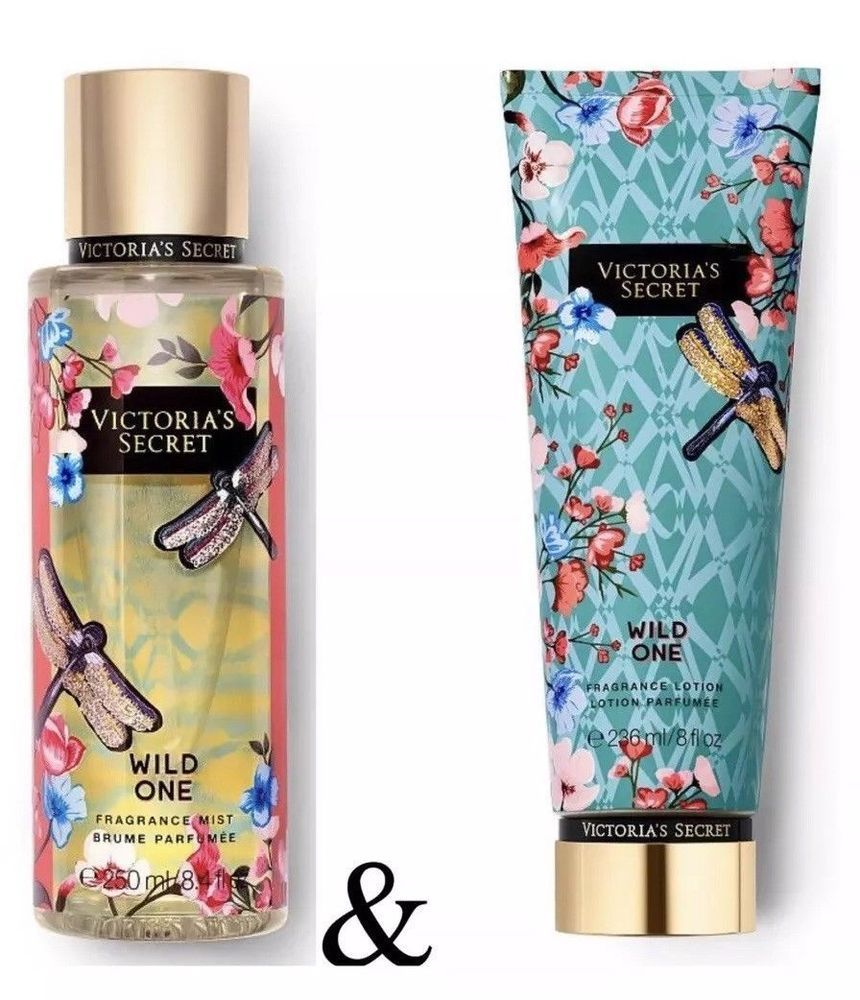 bec73a2efc VICTORIA S SECRET WILD ONE FRAGRANCE BODY MIST and LOTION SET NEW   VictoriasSecret