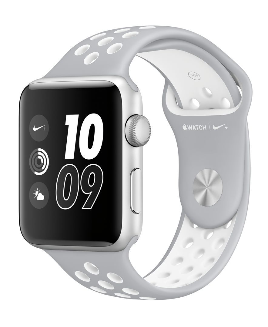 Apple Watch Nike+ 42mm Silver Aluminum Case with Flat