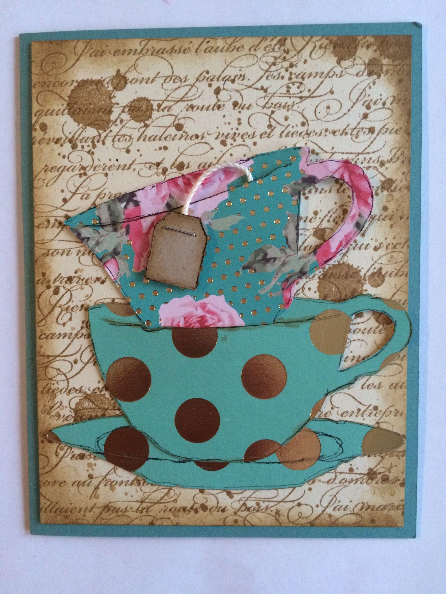 tim holtz tea time designed by me deko allgemein pinterest kaffeebecher ordner und karten. Black Bedroom Furniture Sets. Home Design Ideas