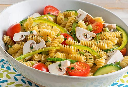 American Beauty Gazpacho Pasta Salad No Mushrooms Added