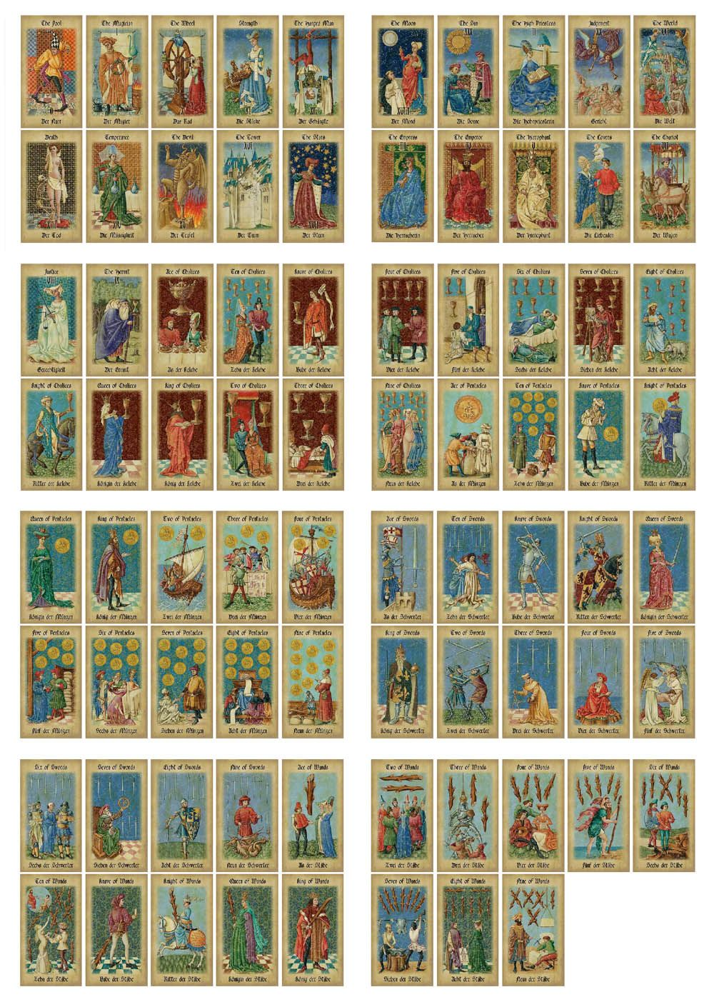 Medieval tarot decks the mittelalter tarot by lo