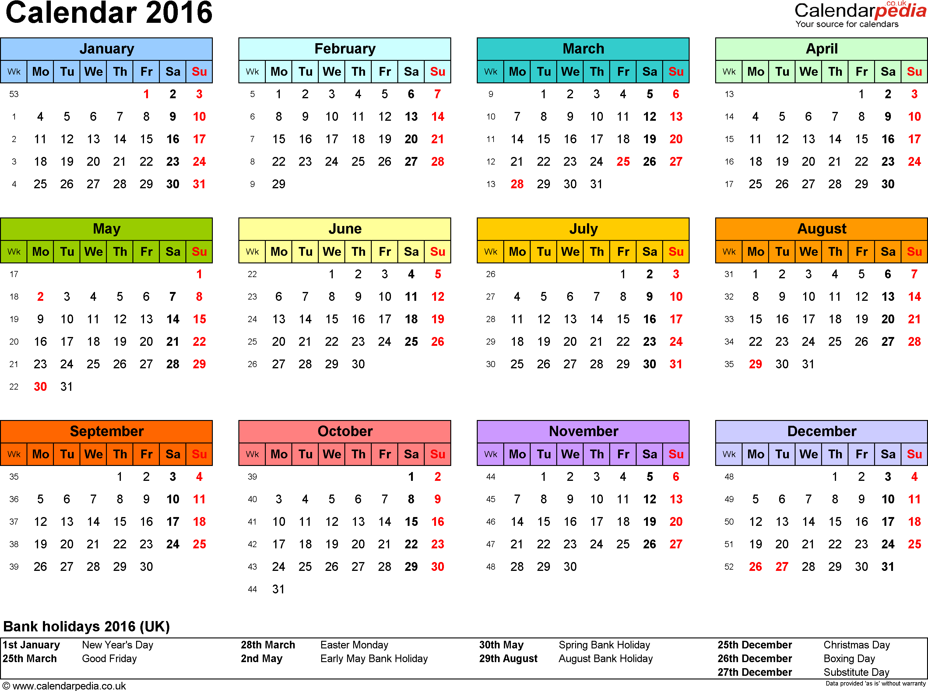 free printable yearly calendar 2015 with holidays