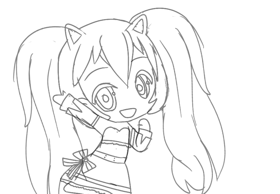 Gacha Life Colouring Sheet In 2020 Coloring Pages Inspirational