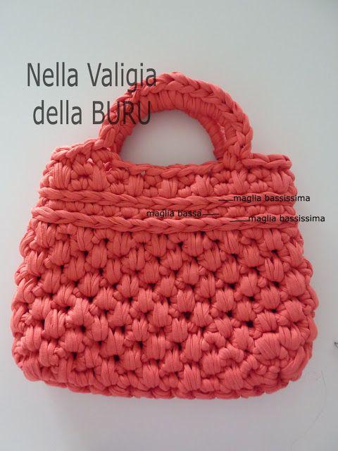 Bolso de trapillo | Borse alluncinetto2 | Pinterest | Textilgarn ...