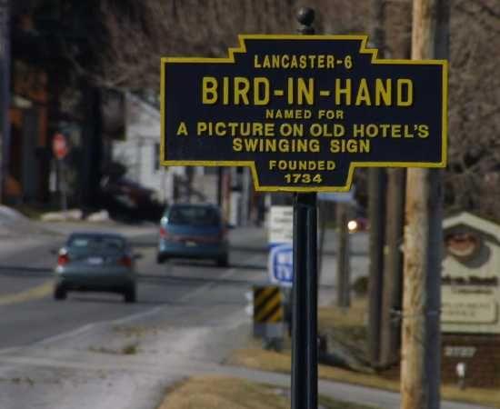 Bird-In-Hand Pennsylvania in Lancaster County.