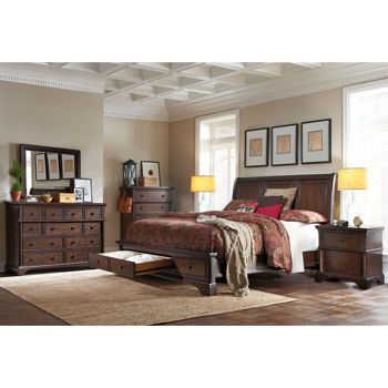 Brownstone 6-piece Cal King Storage Bedroom Set | Ideas For the home ...
